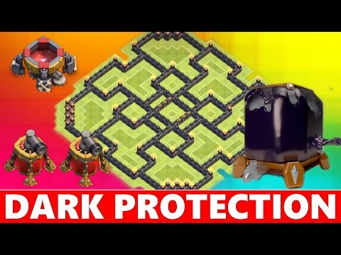 Clash Of Clans | PROTECT YOUR DARK ELIXIR! TOWN HALL 9 (TH9) FARMING BASE DEFENSE!