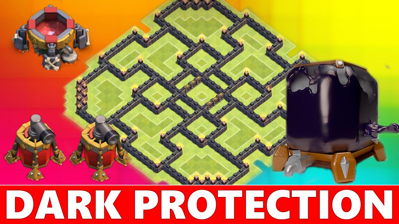 Your dark elixir town hall 9 th9 farming base defense youtube