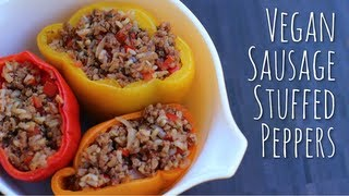 Vegan Sausage Stuffed Peppers