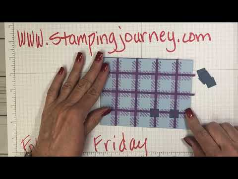 """Follow Up Friday making """"plaid cards""""!"""