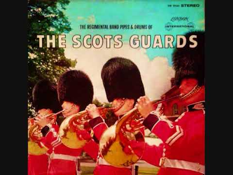 THE REGIMENTAL BAND PIPES & DRUMS OF THE SCOTS GUARDS LP RECORD