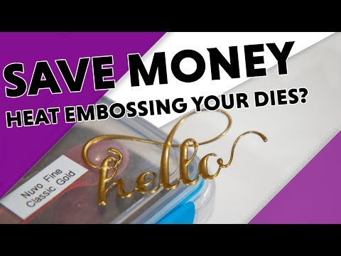 2 Minute Money Saving Tip - Create Faux Metal Embellishments with Heat Embossing