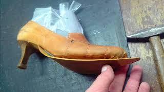 Изменение (укорачивание) формы носка обуви с удлинённого на классический.