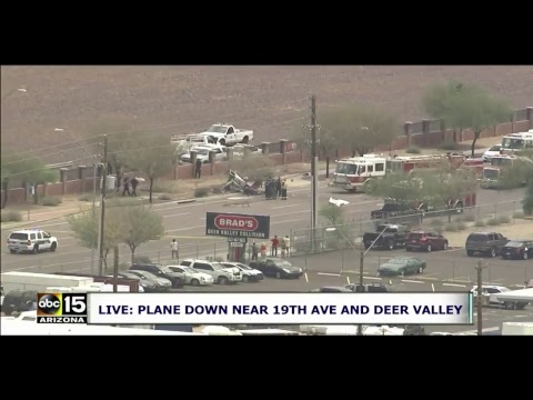 WATCH LIVE: AIRPLANE CRASH-LANDED INTO TREES in north Phoenix, Arizona