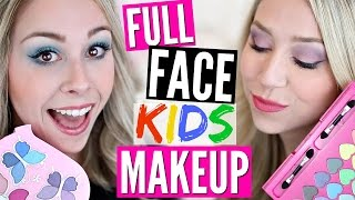 FULL FACE USING ONLY KIDS MAKEUP Challenge