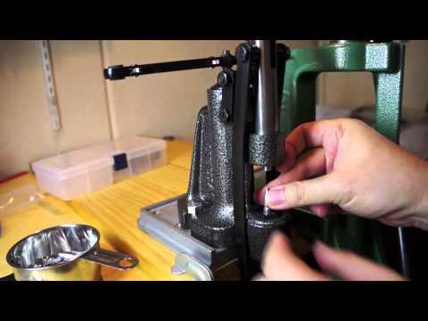 【鋳造弾頭】ルーブサイザーにかける / [cast boolits] using Lyman 4500 lubesizer