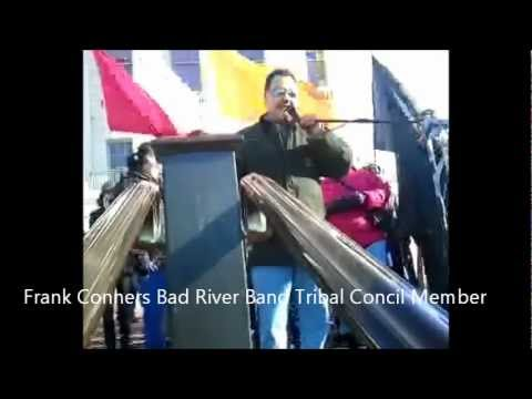 Bad River Tribe Members Speak At Protect Treaty Rights Protest