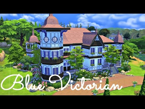 Sims 4 | House Build: Blue Victorian Mansion