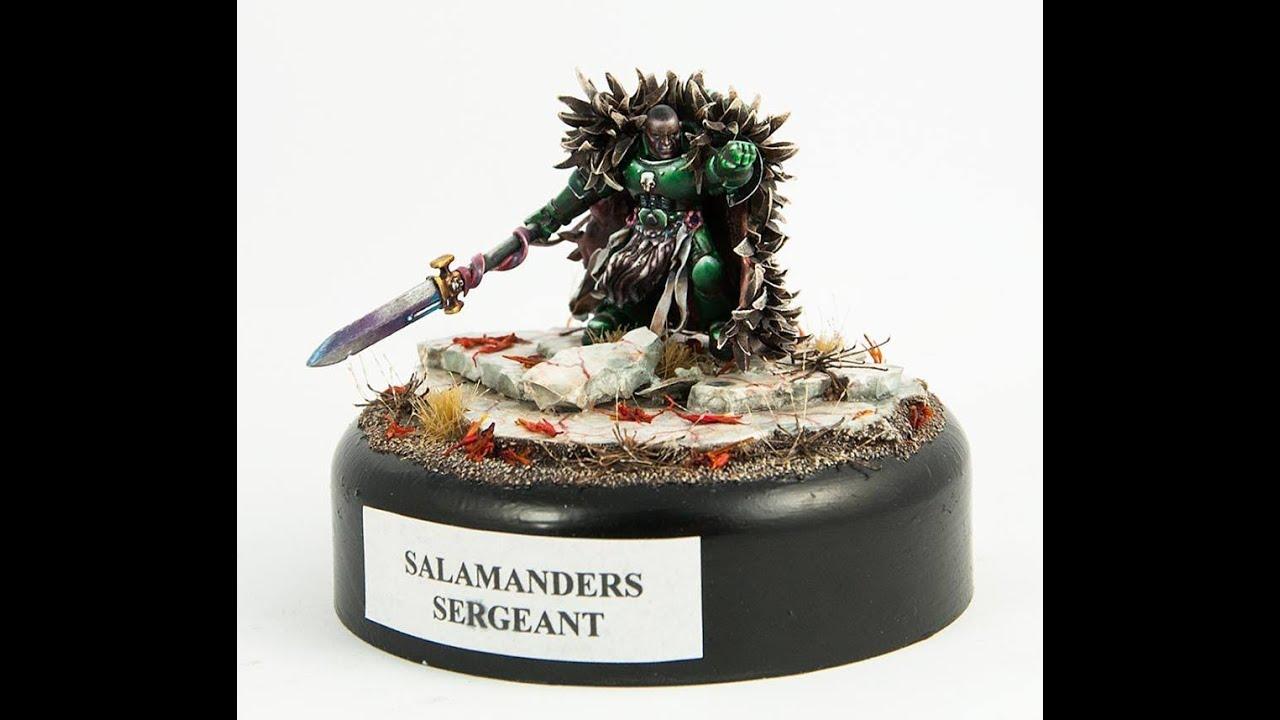 How to paint space marines salamanders hero (speedpainting ... Warhammer 40k Space Marine Salamanders