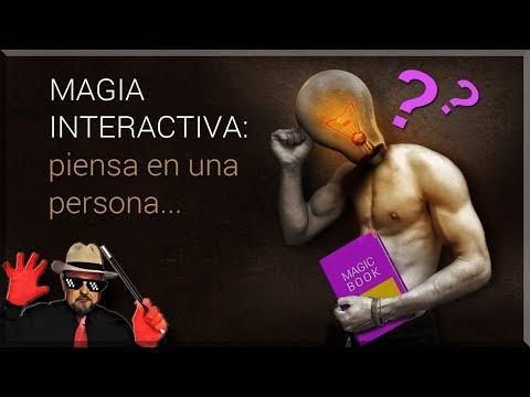 Magia interactiva: Piensa en una persona // Interactive magic: think of a person