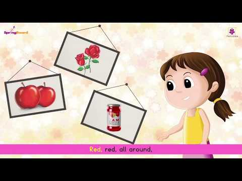 Red Colour Song For Kids | Rhymes on Colour by Periwinkle