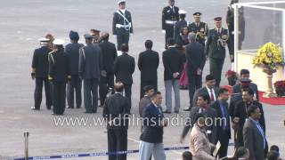 Prime Minister Narendra Modi arrives in massive BMW cavalcade with Z plus security