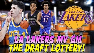 NBA 2K17 Los Angeles Lakers MY GM - NBA DRAFT LOTTERY IS ACTUALLY RIGGED!!!