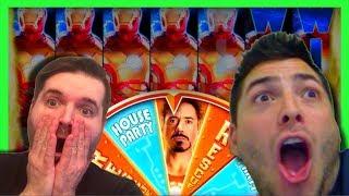 HUGE JACKPOT! Nate & SDGuy BANKRUPT The Casino on Iron Man Deluxe Slot Machine!