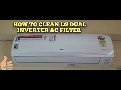 How to clean LG dual inverter AC Air filters at home
