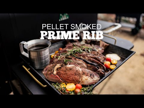 The BEST Pellet Smoked Prime Rib