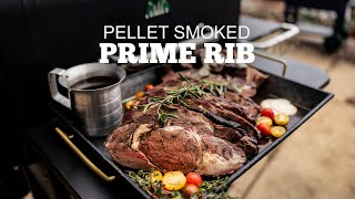 The BEST Pellet Smoked Prime Rib