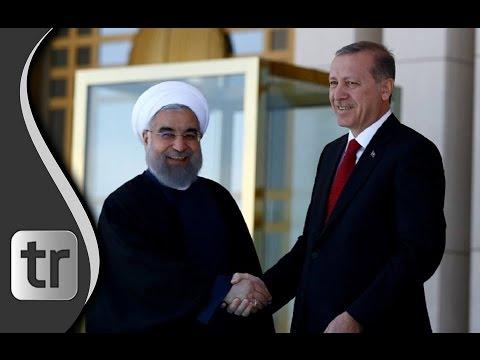 Staatspräsident Erdoğan empfängt Irans Präsident Rohani im Palast von Ankara 2016