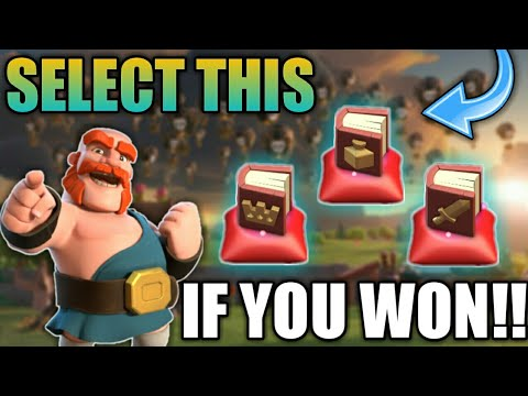 SELECT THIS IF YOU WON!! MAGICAL BOOK CLASH OF CLAN