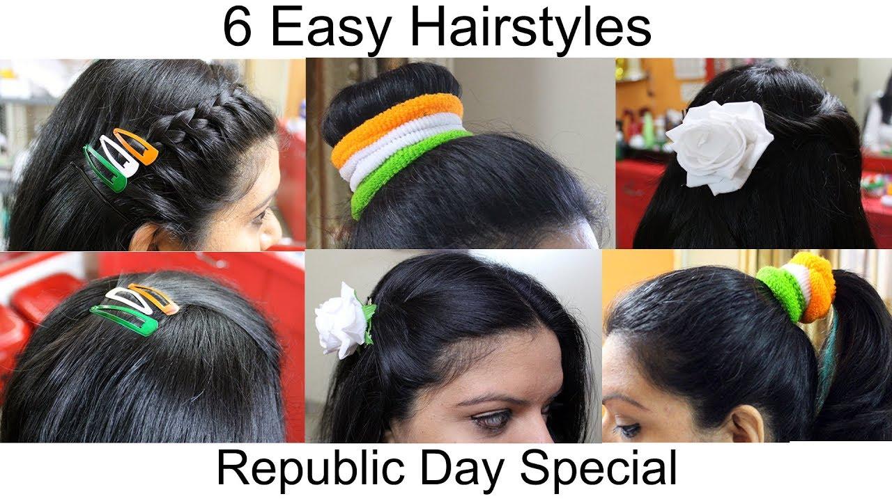 6 easy hairstyles for short hair or medium hair | easy hairstyle | 26th  january 2018