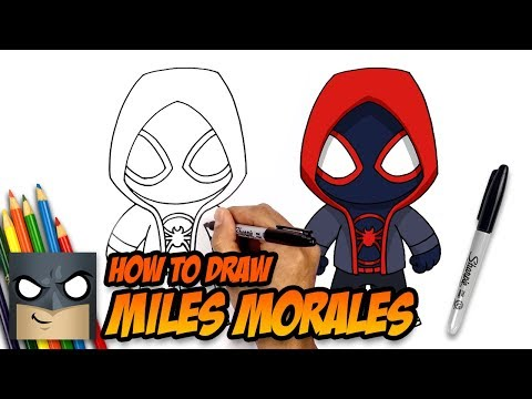 How To Draw Miles Morales | Spider-man | Step-by-Step Tutorial