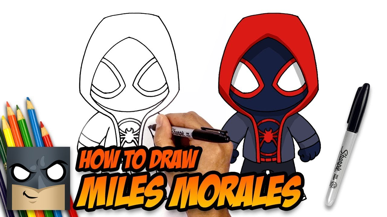 How to Draw Miles Morales | Spider-man | Step-by-Step Tutorial ...