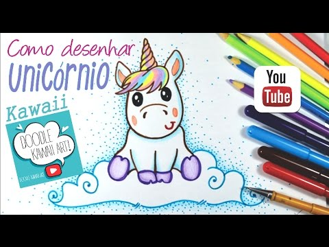 Como Desenhar Unicornio Kawaii 2 Youtube