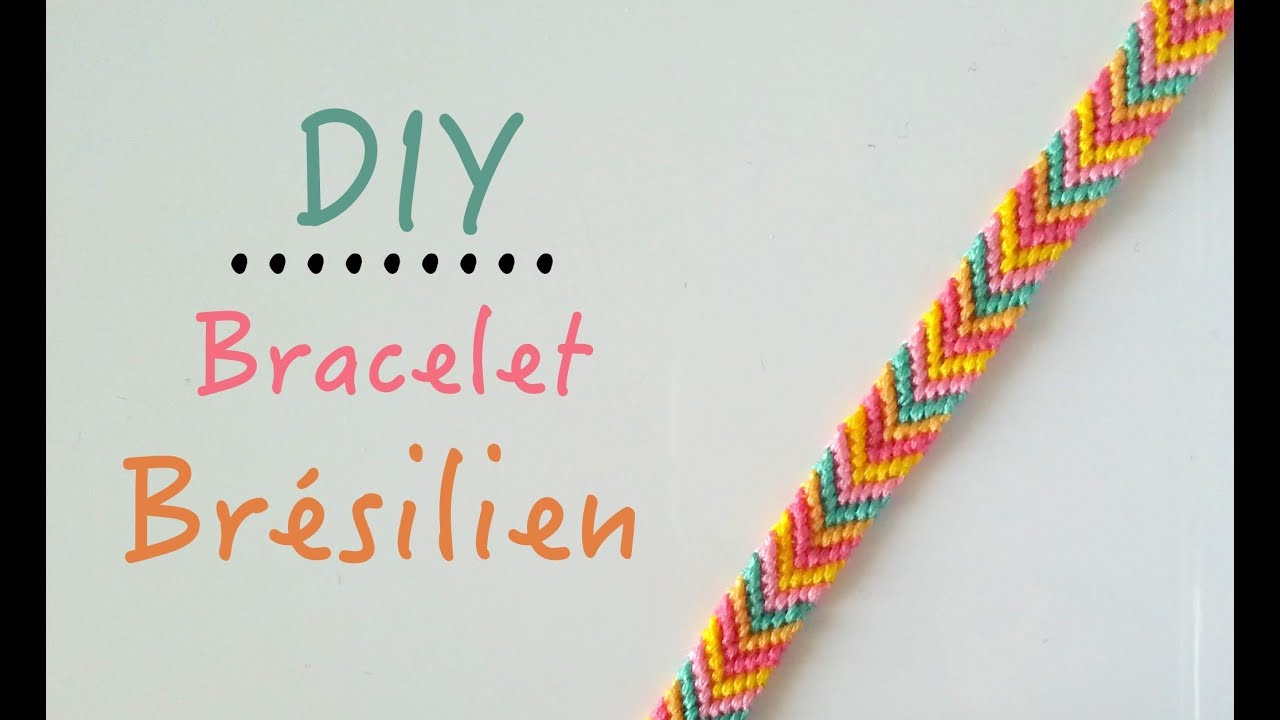Top DIY Comment faire un bracelet brésilien motif : Chevrons - YouTube OJ88