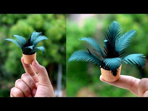 How Make Paper Flower Miniature Plants :DIY