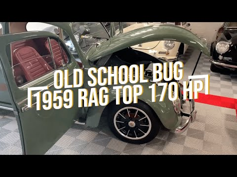 Old School Bug 1959 Rag Top 170 HP