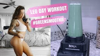BOOTY GAINS + FAV GREEN SMOOTHIE RECIPE + NEW TATTOO?! || Fat Loss Diaries Ep. 12