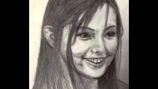 小西真奈美さんの似顔絵【鉛筆画】を描いてみました。 デッサン練習の一...