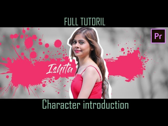 Character introduction || Dolly Freeze Effect || Tutorial || Adobe Premiere Pro CC