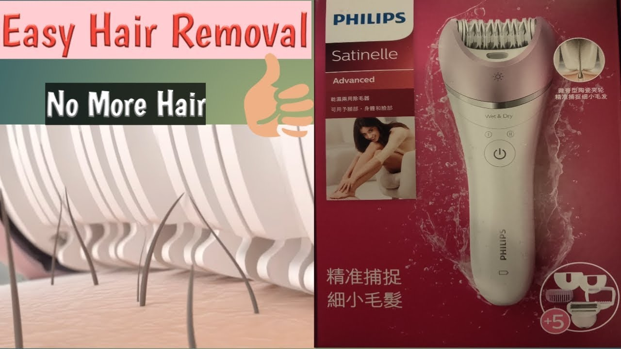 Philips BRE630 Review / How to Remove Hair Using Epilator