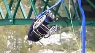 Video of a paraplegic woman wheelchair bungee jumping goes viral
