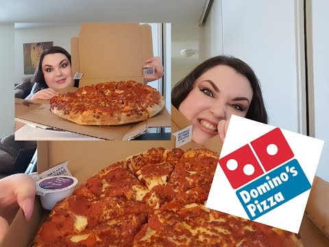 MUKBANG/DOMINO'S PEPPERONI FEAST PIZZA AND CHEESY BREADSTICKS