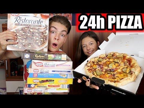 24 STUNDEN NUR PIZZA ESSEN CHALLENGE EXTREM - MIT MEINER FREUNDIN !!!