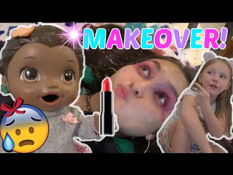 BABY ALIVE gets a BABYSITTER and GIVES a MAKEOVER! The Lilly and Mommy Show! The TOYTASTIC Sisters!
