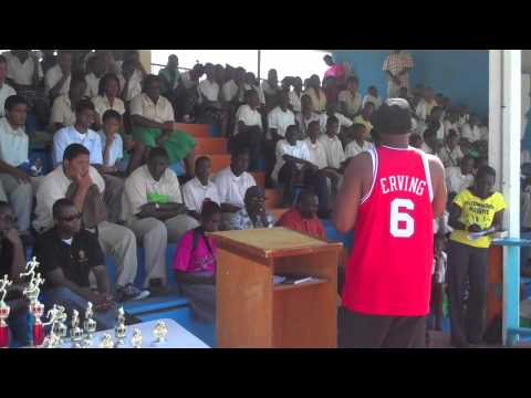 Ruben Brown Visits Anguilla High School