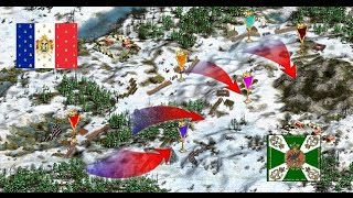 Cossacks 2 Battle for Europe: online battle Winter Fight. L.L. (Russia) vs Frido75 (France) Victory