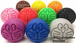 Learn Colors with Play Doh Doraemon and Cookie Molds