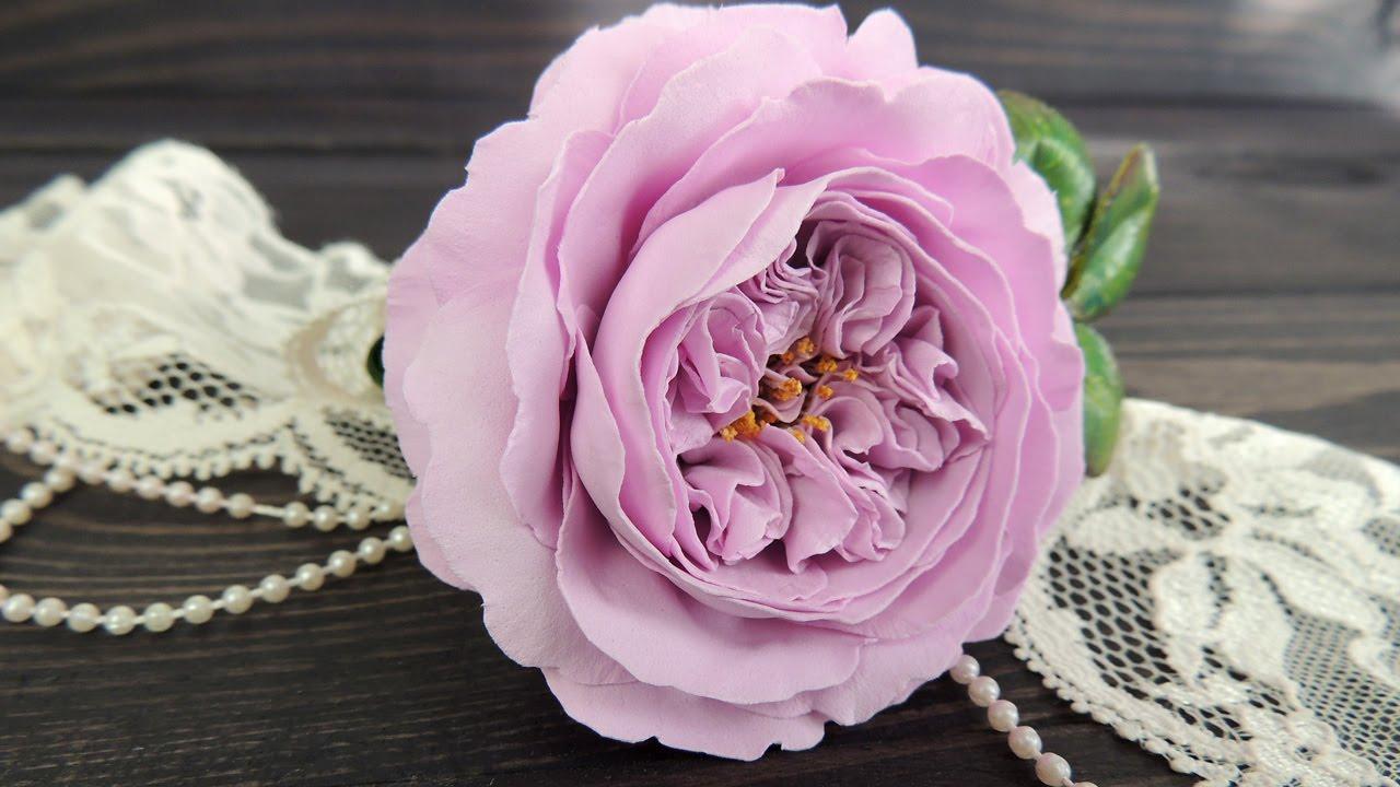 Как сделать розу из фоамирана выкройки фото 970