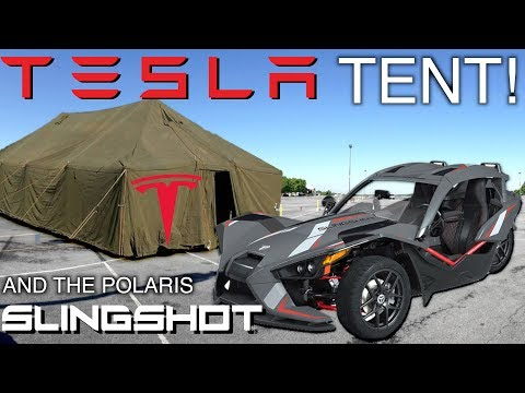 Tesla In A Tent - Polaris Slingshot & Electric Cars That Never Need Charging