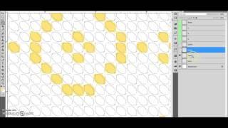 разработка схемы для вышивки бисером