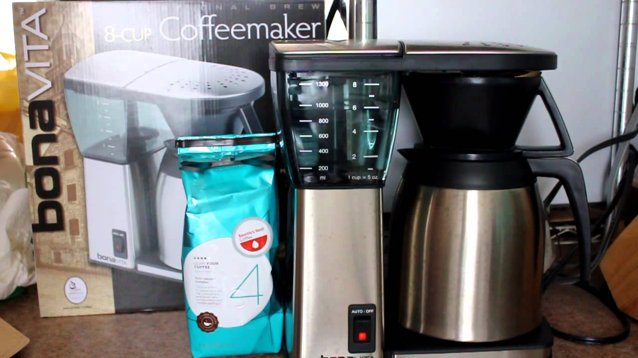 Bonavita BV1800TH 8-Cup Coffee Maker with Thermal Carafe Review - YouTube