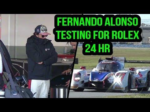 Fernando Alonso Roar Before the 2018 Rolex 24 Testing Day 1