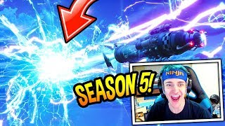 "NINJA EXPLAINS HIS *CRAZY* THEORY BEHIND THE ""PORTAL UNIVERSE"" & SEASON 5! Fortnite SAVAGE Moments"