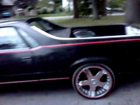 1982 Chevy Elco El Camino 22s Black W Reflective Red