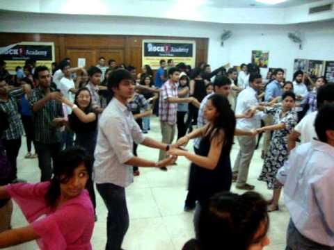 how to dance salsa for beginners -steps with lifts and tricks  by Rockstar Academy chadigarh india