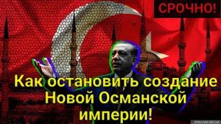ШОК! Как и зачем нужно остановить создание новой Османской империи! Весь мир в панике!